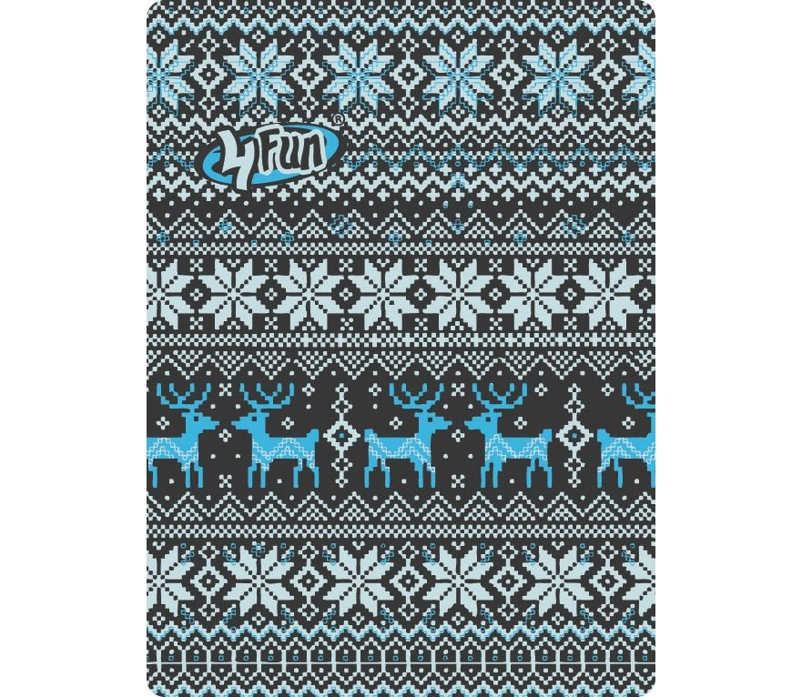 4Fun šátek Standard - deer blue