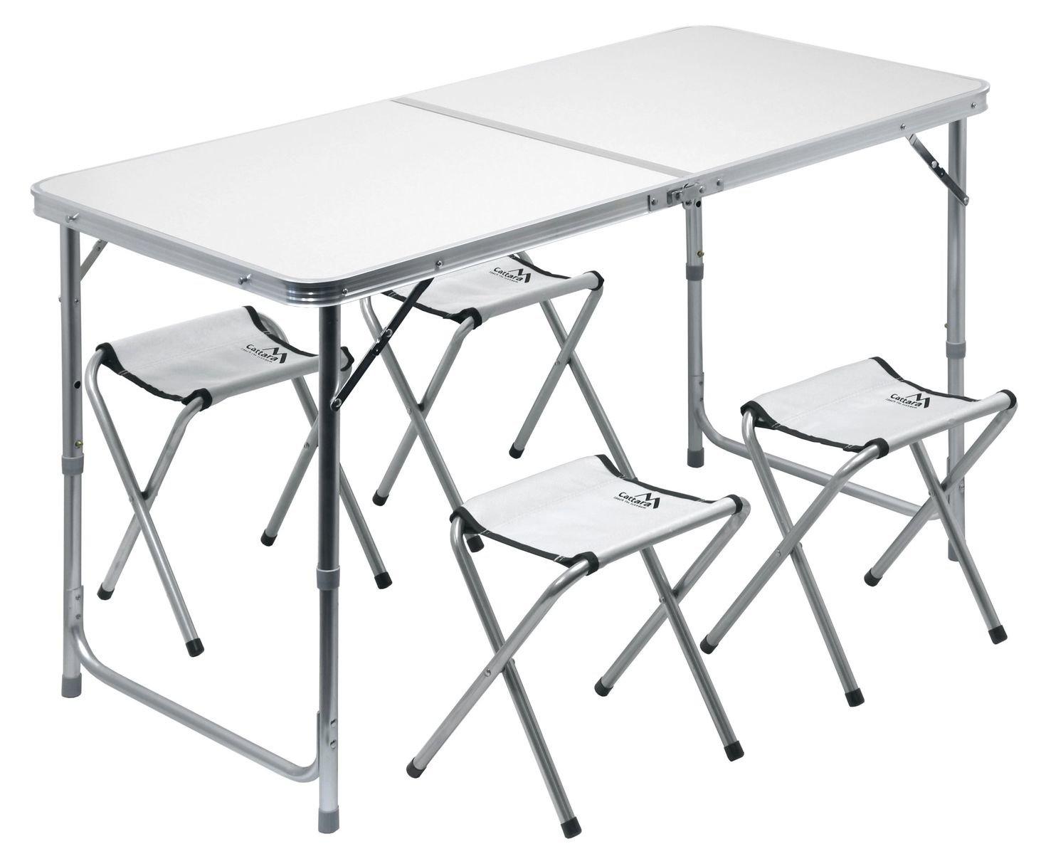 c93fe1381ef7 Cattara skládací kempingový stůl Double se 4 stoličkami - Trekobchod