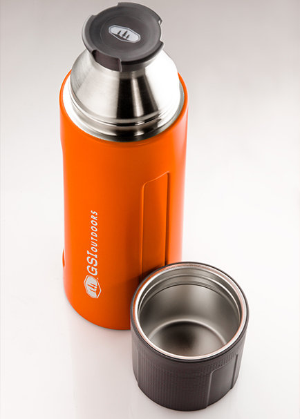 GSI Outdoors Glacier Stainless 1 l termoska orange