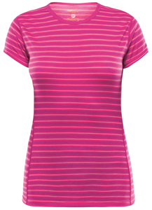 Devold Breeze T-shirt Women fuchsia stripes
