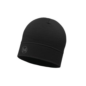 Buff Wool Hat Midweight - solid black