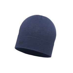 Buff Wool Hat Midweight solid estate blue