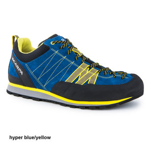 Scarpa Crux hyper blue/yellow