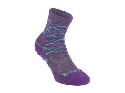 Bridgedale Hike Lightweight Merino Performance Ankle Women purple/aqua