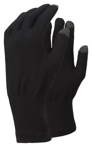 TrekMates Merino Touch Screen gloves black