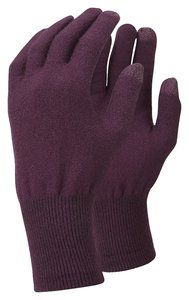 TrekMates Merino Touch Screen gloves purple - S/M