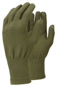TrekMates Merino Touch Screen gloves olive - S/M